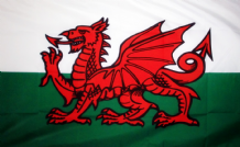"WALES (DRAGON) - 18"" X 12"" FLAG"